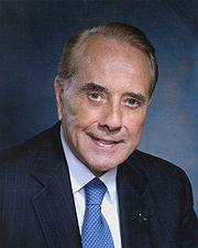 "Robert Joseph ""Bob"" Dole (born July 22, 1923) is an American attorney and politician. He represented Kansas in the United States Senate from 1969 to 1996, was Gerald Ford's Vice Presidential running mate in the 1976 presidential election, and was Senate Majority Leader from 1985 to 1987 and in 1995 and 1996. Dole was the Republican party nominee in the presidential election of 1996, but he lost to incumbent Democrat Bill Clinton. Dole is currently special counsel at the Washington, D.C. office of law firm Alston & Bird."