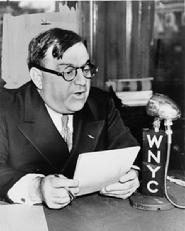 "was Mayor of New York for three terms from 1934 to 1945 as a liberal Republican. Previously he was elected to Congress in 1916 and 1918, and again from 1922 through 1930. Irascible, energetic and charismatic, he craved publicity and is acclaimed as one of the three or four greatest mayors in American history. Only five feet tall, he was called ""the Little Flower"" (Fiorello is Italian for ""little flower"", diminutive of fiore, Italian for ""flower"")."
