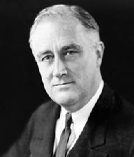 "Franklin D. Roosevelt was born on January 30, 1882 at Hyde Park, New York. He attended Harvard University and Columbia Law School. On St. Patrick's Day, 1905, he married Eleanor Roosevelt. Roosevelt entered public service through politics, serving in several state and federal positions before being elected Governor of New York in 1928. In the summer of 1921, at the age of 39, he was stricken with poliomyelitis. Demonstrating indomitable courage, Roosevelt fought to regain the use of his legs, particularly through swimming. Roosevelt received the three degrees in Masonry within Holland Lodge No. 8 located in New York City in 1911. During his lifetime he was supportive of Freemasonry and somewhat active in the fraternity. He was elected President in November 1932 to the first of four terms spanning the Great Depression to World War II. His tenure as President was a period of great social and political change in the United States. Assuming the Presidency at the depth of the Great Depression, he brought hope to the American people as he promised prompt, vigorous action, and asserted in his Inaugural Address, ""the only thing we have to fear is fear itself."" When the Japanese attacked Pearl Harbor on December 7, 1941, Roosevelt directed organization of the Nation's manpower and resources for global war. During this period he directed the war effort but also contemplated the planning of a United Nations in which international difficulties could be resolved. As the war drew to a close, Roosevelt's health deteriorated, and on April 12, 1945, while at Warm Springs, Georgia, he died of a cerebral hemorrhage at the beginning of his fourth term as President."